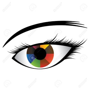 15468924-Colorful-illustration-of-human-eye-with-multicolored-iris-showing-almost-rainbow-colors-and-black-pu-Stock-Vector